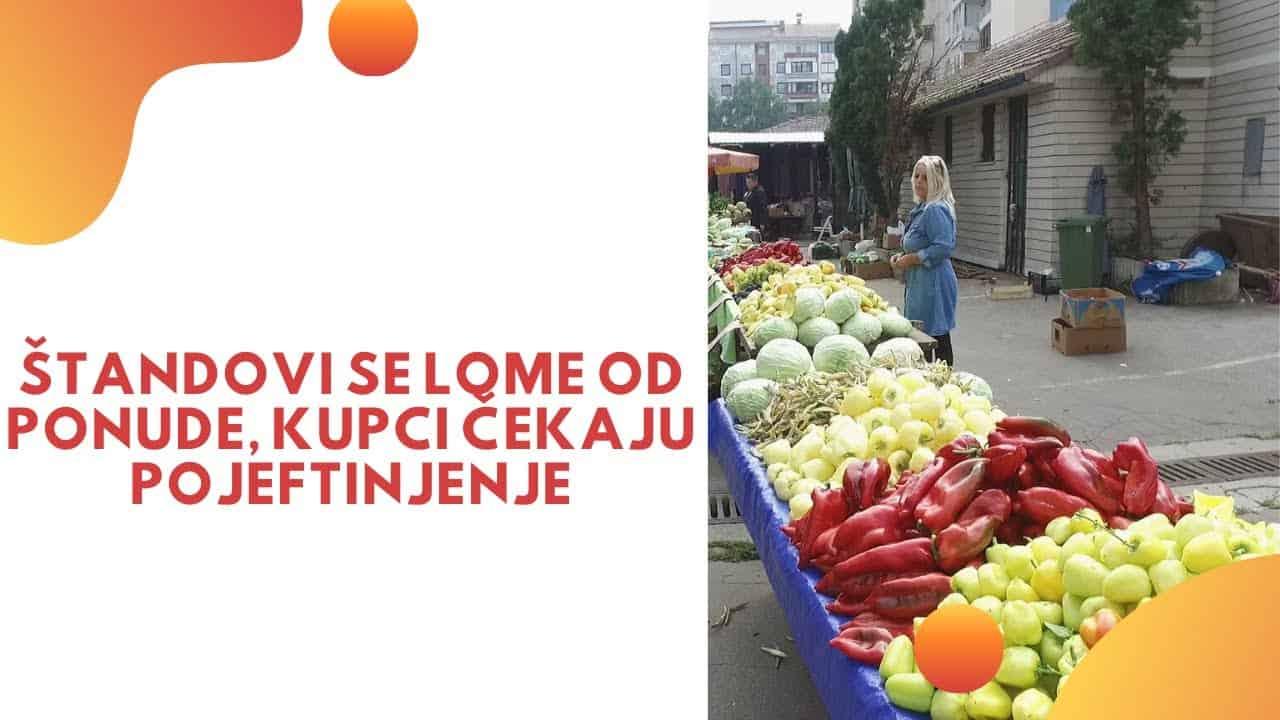 PIJACA TRAVNIK / Štandovi se lome od ponude, kupci čekaju pojeftinjenje