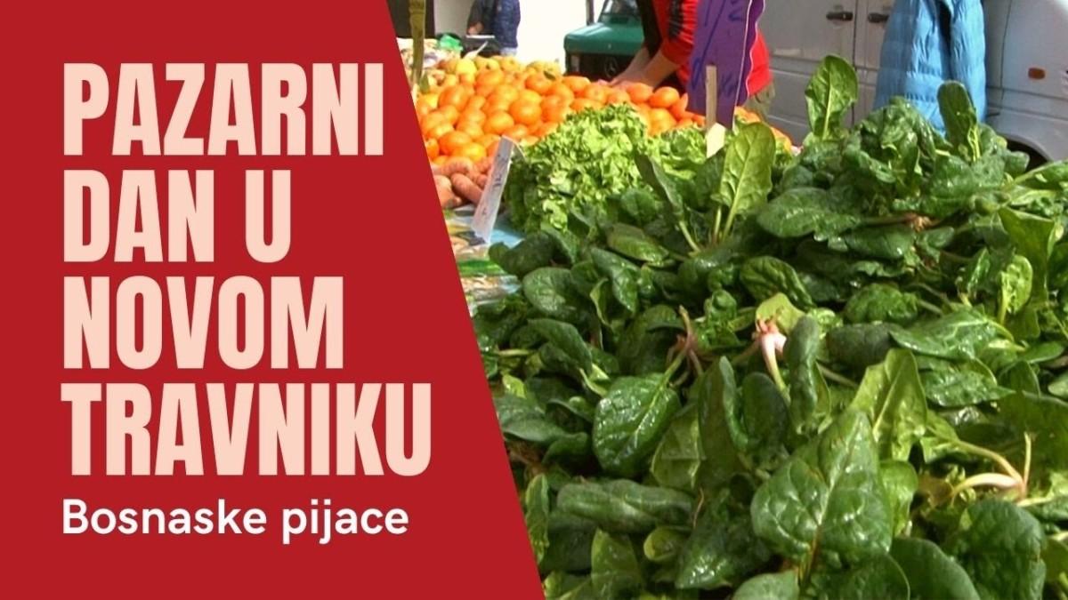 BOSANSKE PIJACE / Pazarni dan na zelenoj i buvljoj pijaci u Novom Travniku